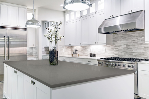 White Cabinets With Gray Countertops Add Depth To Your Kitchen Hyundai L C Usa